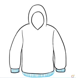 How to draw a Hoodies