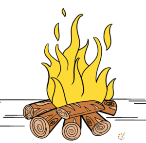 How to draw a fire