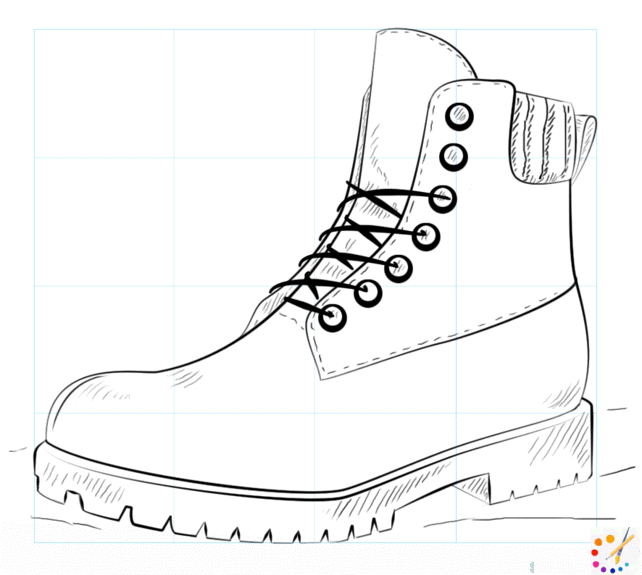 How to draw a boot