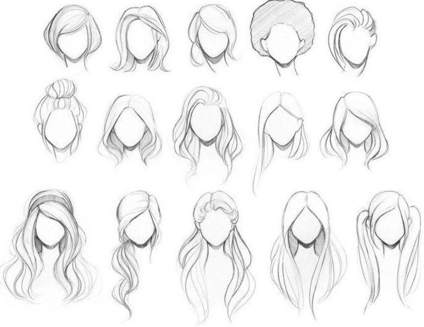 Female hairs Drawing