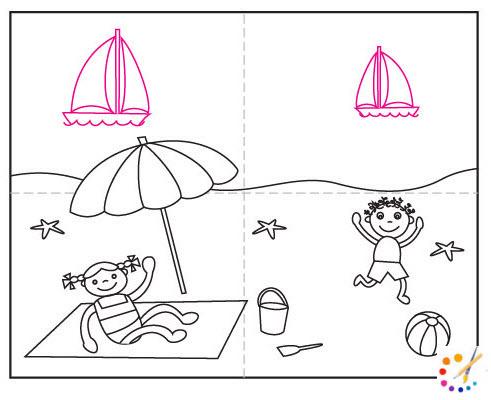 How To Braw a beach