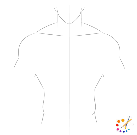 How to draw muscles