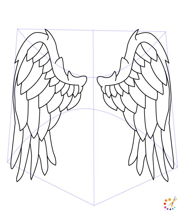 How to draw wings