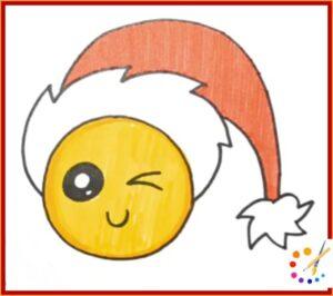 How to draw wink emoji