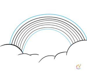 How to draw a rainbow