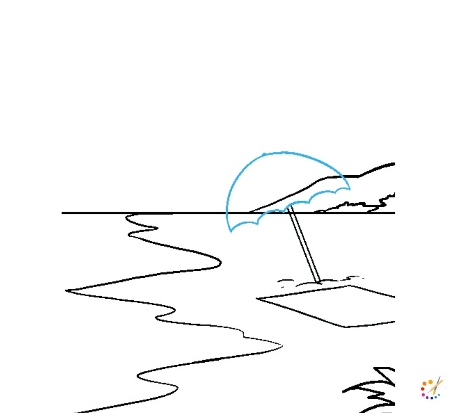 How to draw a beach