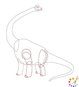 How to draw a dinosaurs