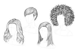 How to draw female Hair