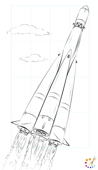 How to draw a Rocket