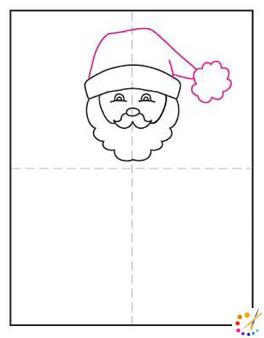 How to draw a Santa Claus