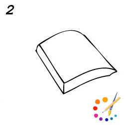 How to draw a Book step by step - [open & close]