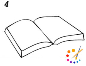 How to draw a Book step by step