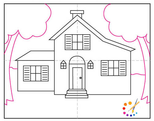 How to draw a house