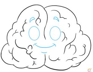 How to draw brain