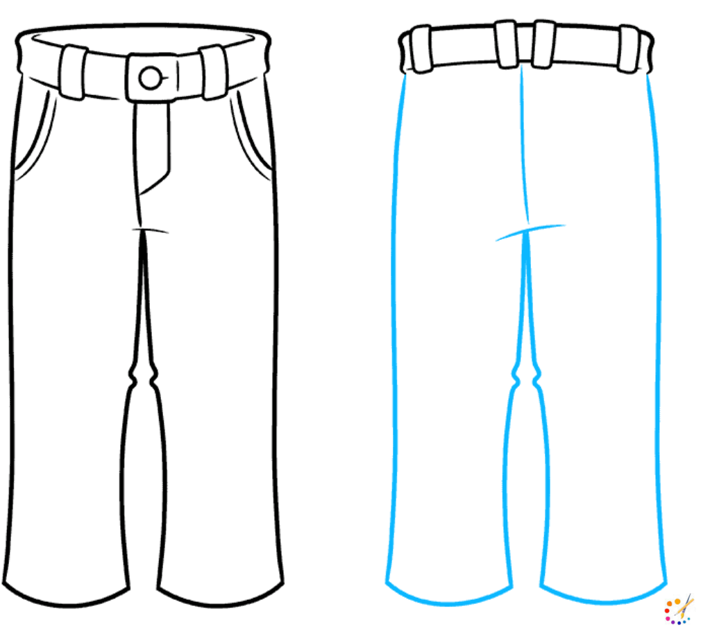 How to draw pant