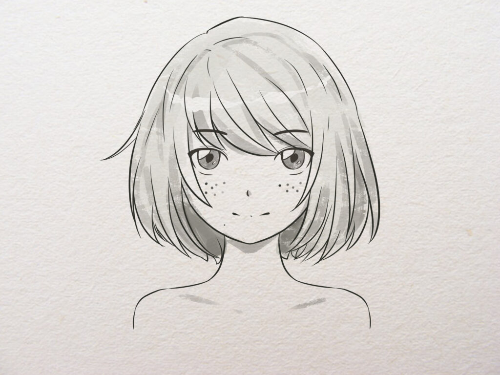 How to Draw Anime Girl Step By Step – For Kids & Beginners