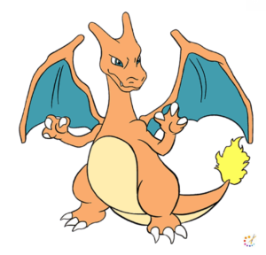 How to draw a Charizard