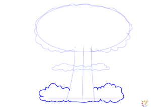 How to draw mushroom cloud