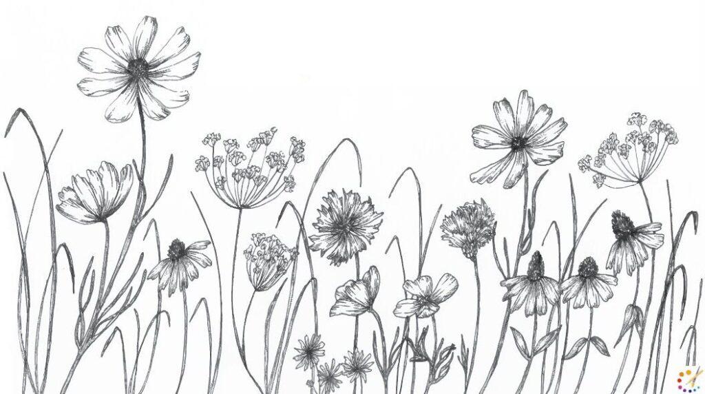 Как нарисовать цветок шаг за шагом – для детей & начинающих