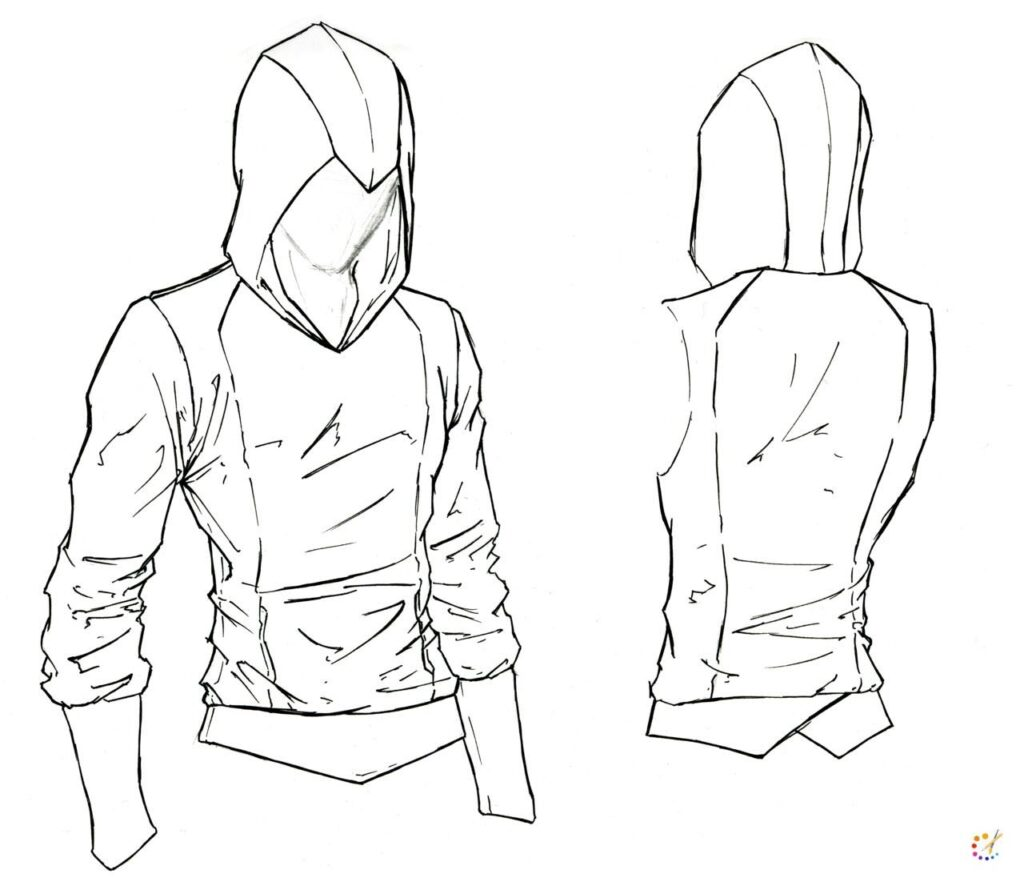 How to draw a hood