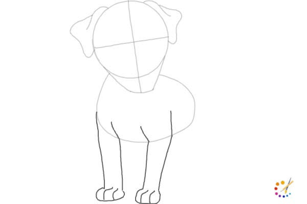How to draw a puppy