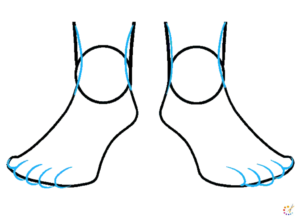 How to draw a feet
