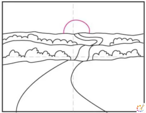 How to draw Sunset