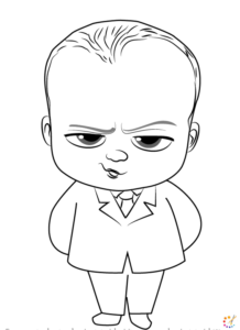 How to draw a boss baby
