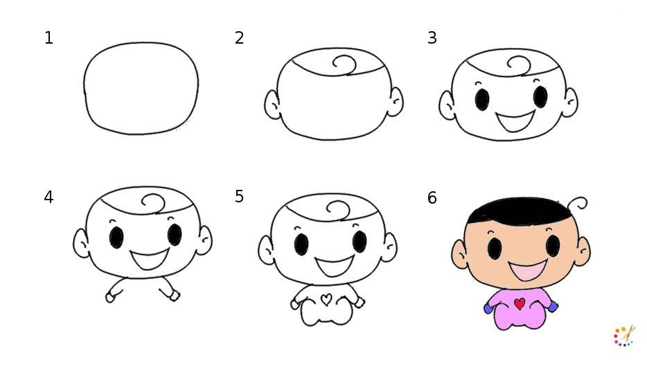 Draw step by step baby