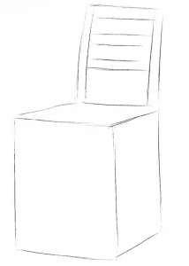 How to draw chair