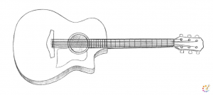 How to draw Guitar