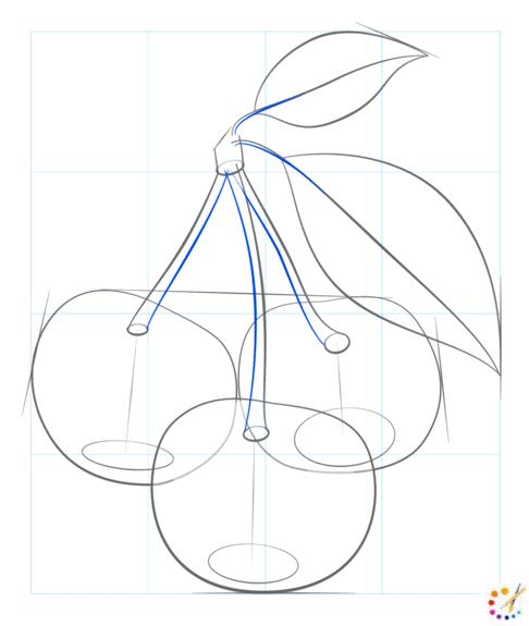 How to draw cherries