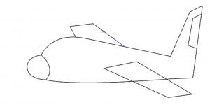 how to draw airoplan